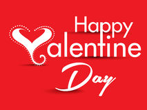 Valentine Day Text Background with Heart Royalty Free Stock Image