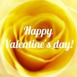 Valentine Day Text feliz en fondo borroso Fotografía de archivo libre de regalías