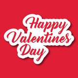 Valentine Day Text Happy Valentines-Vektor-Bild Stockfotos