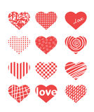 Valentine day theme different hearts Royalty Free Stock Photo