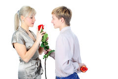 Valentine day - time for gift, Stock Photos