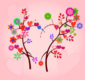 Valentine day tree Royalty Free Stock Photography