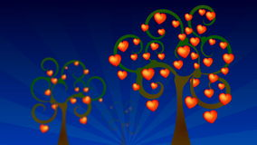 Valentine day, tree heart. Animation stock video
