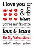 Valentine Day Typography Royalty Free Stock Image
