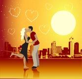 Valentine Day, Urban Scene, Couple Stock Photography