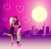 Valentine day, urban scene, couple Royalty Free Stock Image