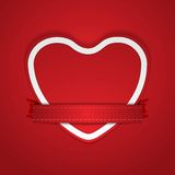 Valentine Day vector background with paper heart Stock Photos