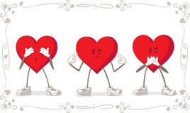 Valentine Day Vector Card Fotografie Stock