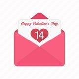 Valentine day vector envelopes. Stock Photos