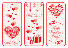 Valentine day vertical web banner set. Stock Photography