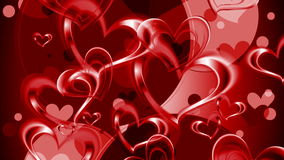 Valentine Day video animation. Valentine Day graphic design with red hearts. Video animation HD 1920x1080 stock footage