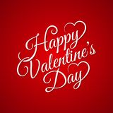 Valentine day vintage lettering background Stock Images