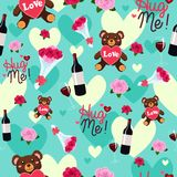 Valentine Day Wallpaper Seamless Pattern Background Royalty Free Stock Image