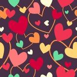 Valentine Day Wallpaper Seamless Pattern bakgrund Royaltyfri Foto