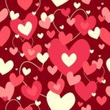 Valentine Day Wallpaper Seamless Pattern bakgrund Arkivbilder