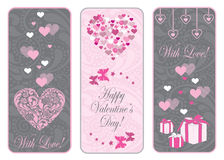 Valentine day web banner set. Royalty Free Stock Photography