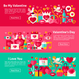 Valentine Day Web Banners heureux Photo stock