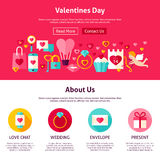 Valentine Day Web Design Stock Images
