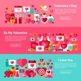 Valentine Day Web Horizontal Banners Image libre de droits