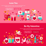 Valentine Day Website Banners Image stock