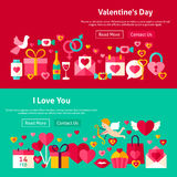Valentine Day Website Banners heureux Photographie stock libre de droits