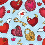Valentine day,wedding,love seamless pattern. Heart Royalty Free Stock Photos