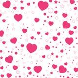 Valentine Day y corazón rosado aislados en el fondo blanco Fondo de Valentine Day del vector Imagenes de archivo