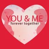 Valentine Day You et moi dirigent pour toujours ensemble l'image Image stock