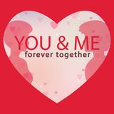 Valentine Day You and Me forever together Vector Image Stock Image