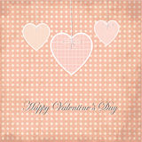 Valentine Days Grunge Greeting Card, Dot Design Foto de archivo