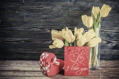 Valentine days vintage postcard. Holiday Valentine days postcard for your design. Film filter vintage stylization Royalty Free Stock Photo