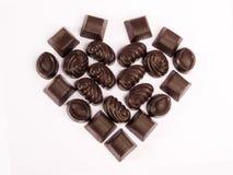 valentine de 2 chocolats Images stock
