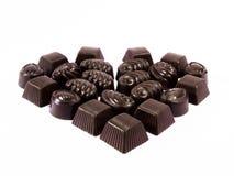 valentine de 3 chocolats Image libre de droits