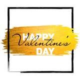 Valentine-de banner met goud schittert verfslag De gelukkige Dag van de Valentijnskaart `s Royalty-vrije Stock Afbeelding