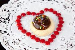 valentine de biscuit image libre de droits