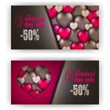Valentine de bon de cadeau Image libre de droits