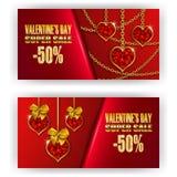 Valentine de bon de cadeau Photographie stock