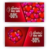 Valentine de bon de cadeau Images libres de droits