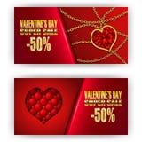 Valentine de bon de cadeau Photo stock
