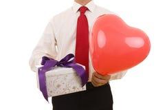 valentine de cadeau Images stock