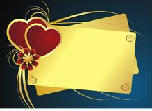 valentine de carte Photo libre de droits