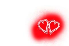 valentine de coeurs Images libres de droits