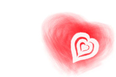 valentine de coeurs Image stock