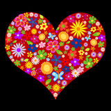 Valentine de fleur de source illustration libre de droits