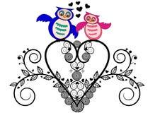 Valentine de hibou Photo stock