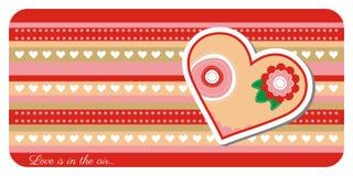 Valentine-de kaart van de daggroet Stock Afbeelding
