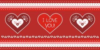 Valentine-de kaart van de daggroet Royalty-vrije Stock Afbeelding