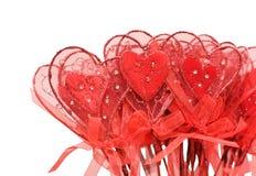 valentine de rouge de coeurs Image libre de droits