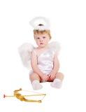 Valentine de rue \ 'garçon d'ange de jour de s Photos libres de droits