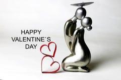 Valentine de statuette avec le texte photo libre de droits